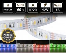 16W LED RGBCW лента 60 5050 12V IP20