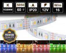 16W LED RGBWW лента 60 5050 12V IP20