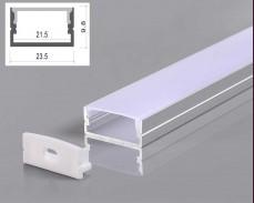 Алуминиев профил за LED лента 2м 9,8х23,5мм открит монтаж