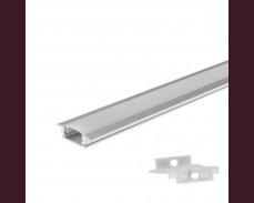 Алуминиев профил за LED лента 2м 7х17,4мм вкопан монтаж