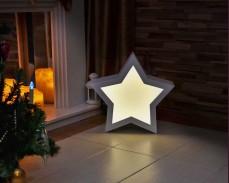 Обемна светеща звезда ТОПЛО БЯЛ LED 47х47см