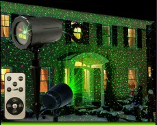 Коледен LED лазерен прожектор движещи се точки