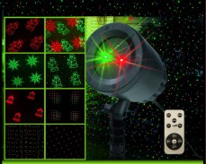 LED лазерен прожектор с 8 режима