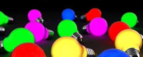 Цветни LED крушки